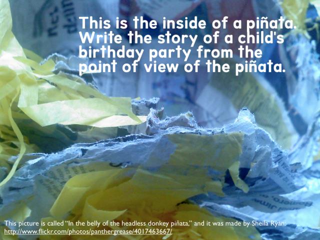 Inside a Pinata